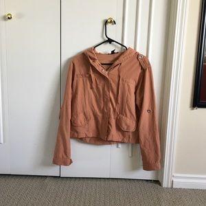 Lightweight salmon coloured jacket